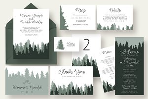 Woods Wedding Invitation Suite