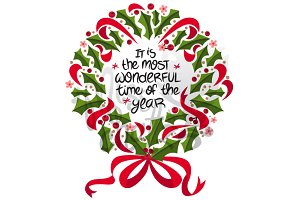 Holiday Wreath: Most Wonderful