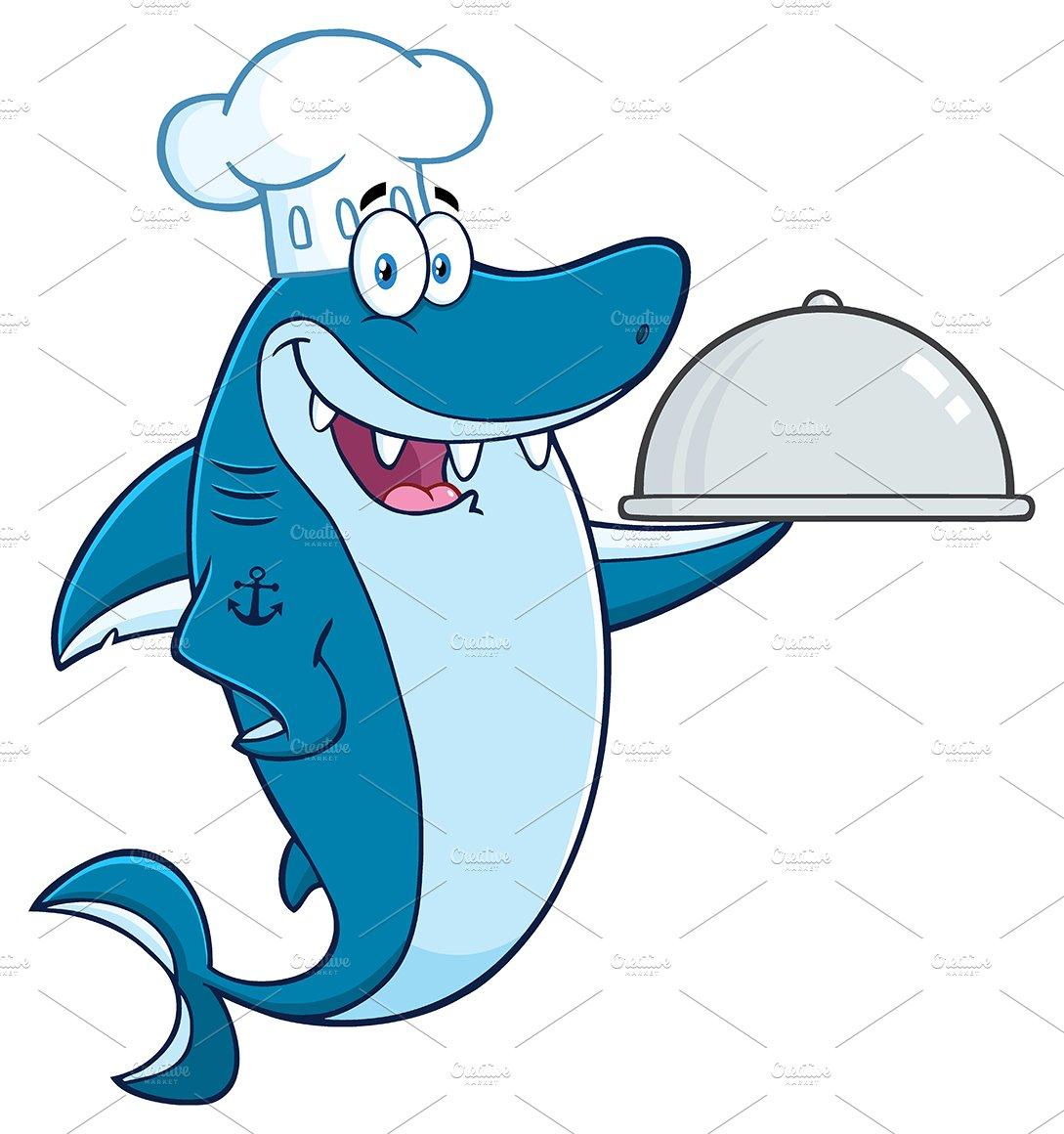 Chef Blue Shark Cartoon Character ~ Illustrations ...