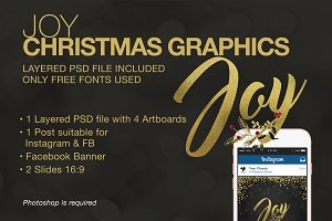 """Joy"" Christmas Graphics"