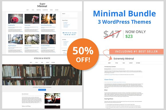 Minimal WordPress Themes Bundle