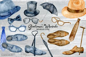 Watercolor Gentleman's Wardrobe