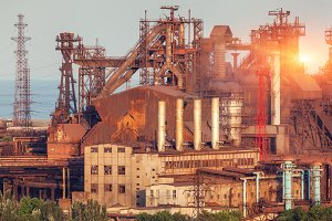 Steel factory. Heavy industry