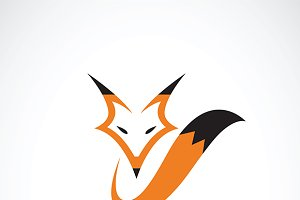 Vector of a fox design.