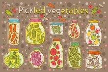 Pickled vegetables. Seamless pattern