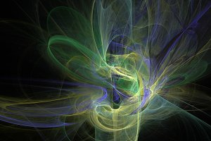Colorful curves and waves abstract 3d background