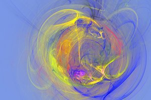 Colorful explosion curves abstract 3d background