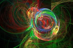 Colorful whirpool abstract 3d background
