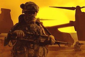 Airborne troopers desert
