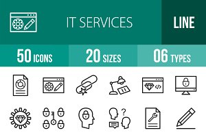50 IT Services Line Icons