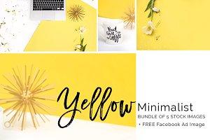Yellow Minimalist Styled Stock