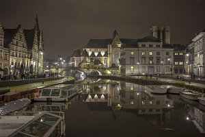 Medieval Ghent at night