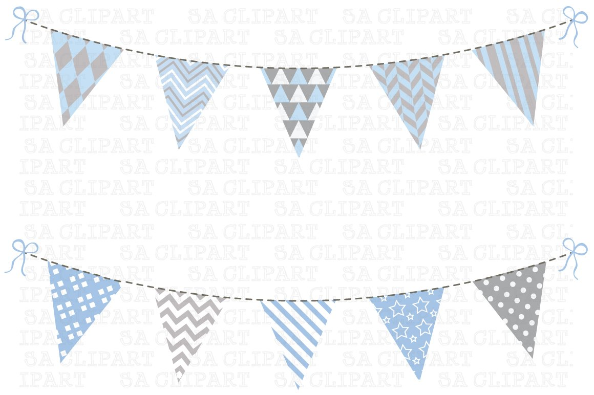 Bunting Banner Clipart ~ Illustrations ~ Creative Market