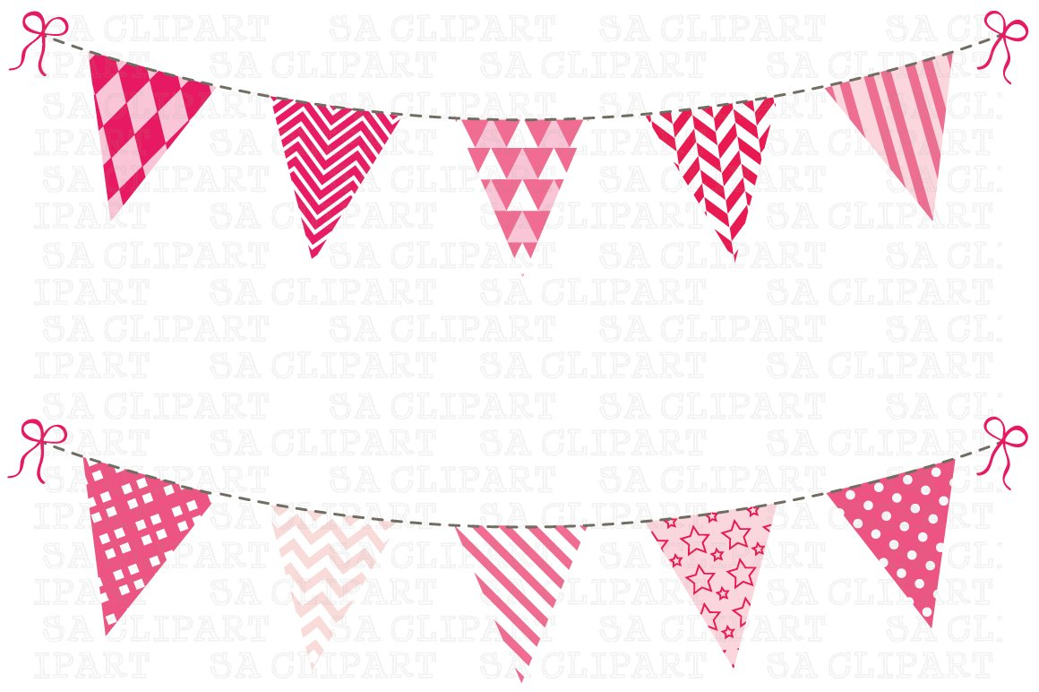 Bunting Banner Clipart Illustrations Creative Market