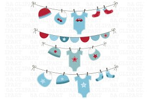 Baby Boy Shower Clipart