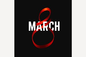 March 8 Ribbon