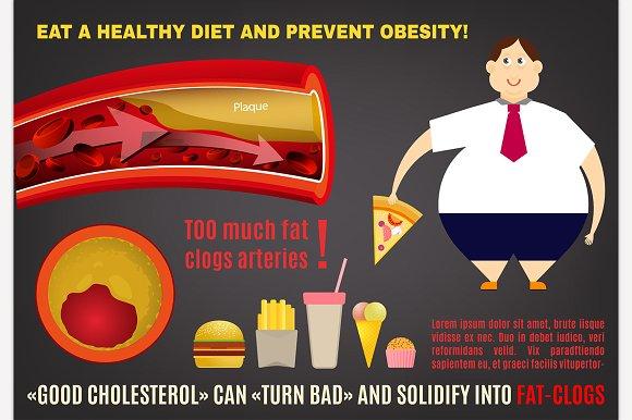 Obesity Vector Infopraphics