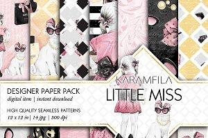 Little Miss Seamless Patterns