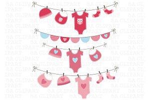 Baby Girl Shower Clipart