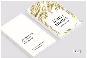 Golden Palm Business Card Template