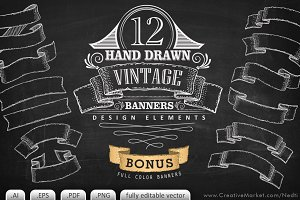 Vintage Banner Illustrations Vector