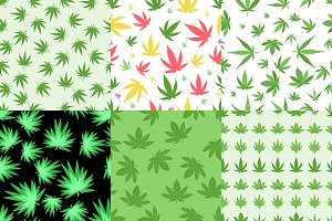 Marijuana leaf background herb