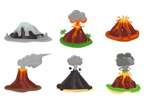 Volcano magma nature blowing