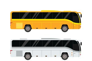 City public bus vector set