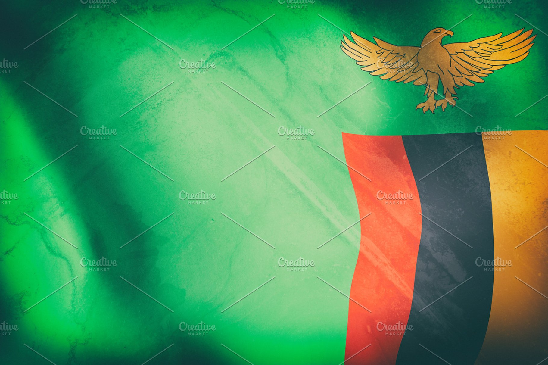 Old Zambia flag