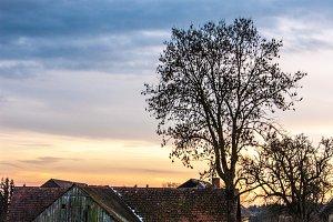 Old austrian farm in autumn