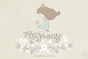 Little princess illustration