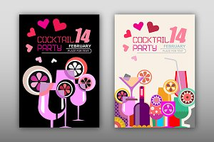 Cocktail Party Poster Templates
