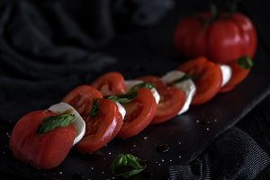 Caprese salad with mozzarella