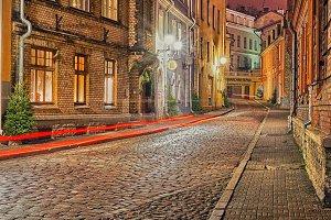 old street in city Tallinn