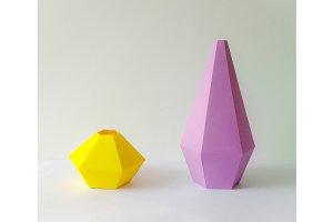 DIY Vases - 3d papercraft