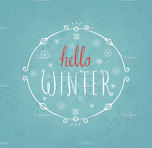 Hello Winter card