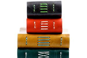 Stack of Leather Notepads