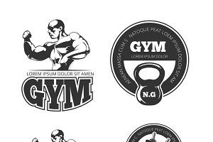 Fitness vector set of emblems