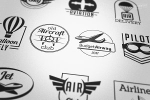 Aviation Badges Logos