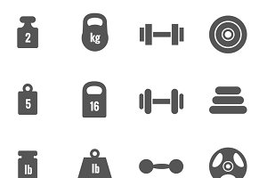 Weight vector icons