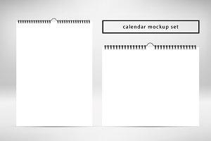 Calendar mockup. 2 white calendars.