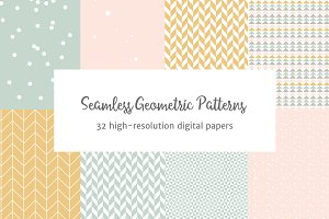Seamless Pastel Geometric Patterns
