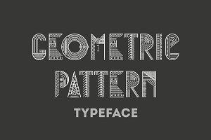 Geometric pattern typeface