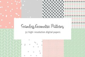 Seamless Pastel Geometric Patterns 2