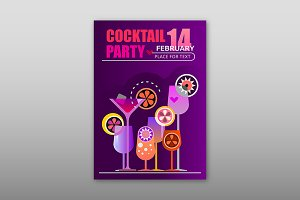 Holiday Cocktail Party Poster A4