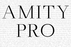 Amity Pro Font