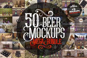 50 Beer Mockups Bundle [87% OFF]
