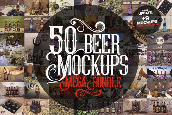 50 Beer Mockups Bundle [87% OFF]