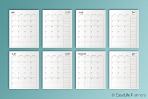 "Monthly Dated Planner 7.25"" x 9.25"""