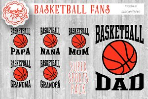 Basketball Fan Cut Files Tshirt svg